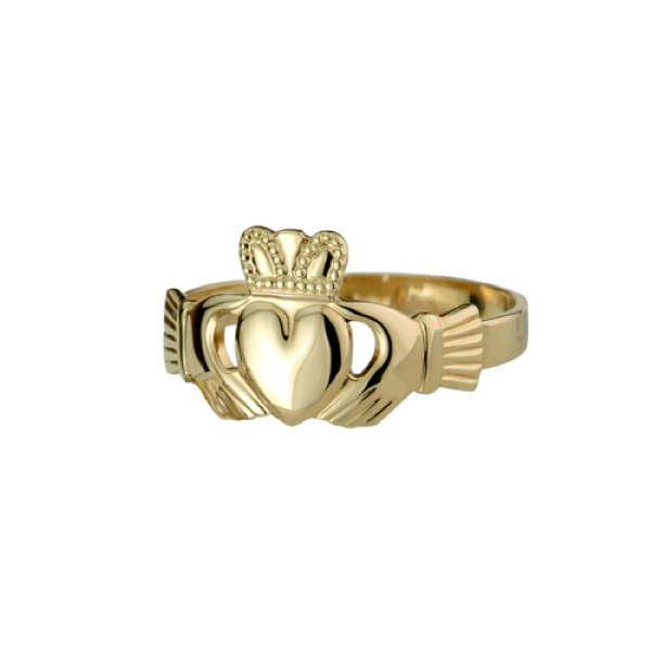 10K and 14K Gold Claddagh Rings for Men and Women