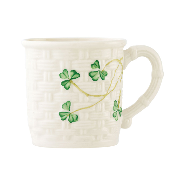 Belleek China Shamrock Christening Mug