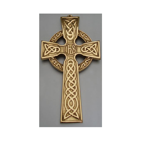 Brass Celtic Wall Cross