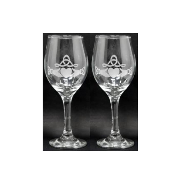 Claddagh Wine Glass Pair