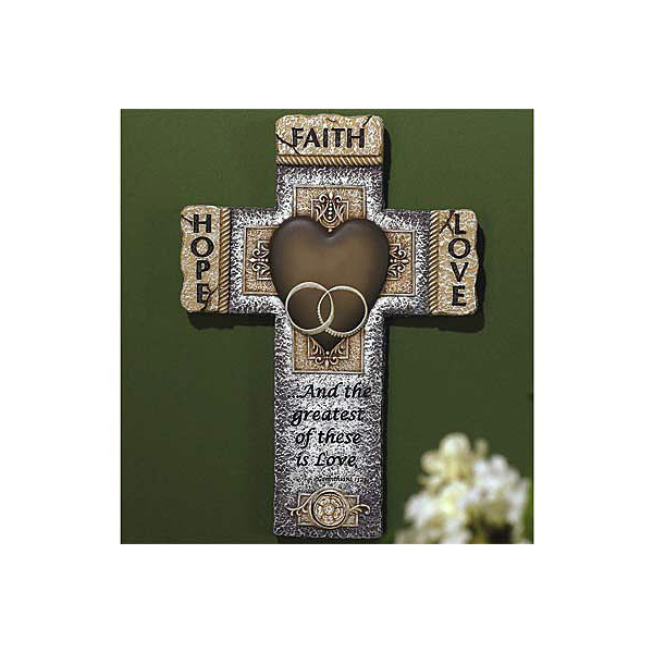 Faith, Hope, Love Wedding Cross