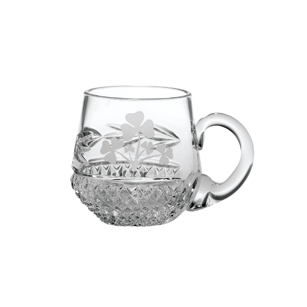 Galway Crystal Shamrock Christening Cup