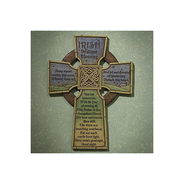Irish Bedtime Blessing Cross