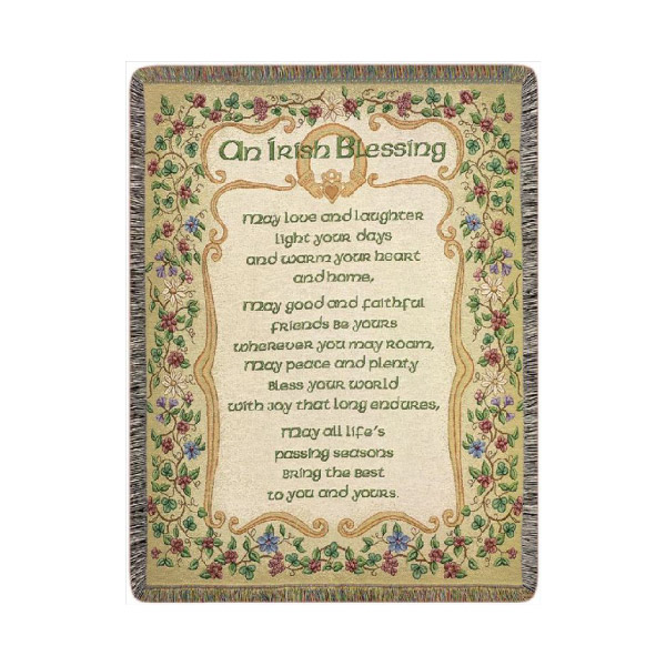Irish Blessing Throw Blankets