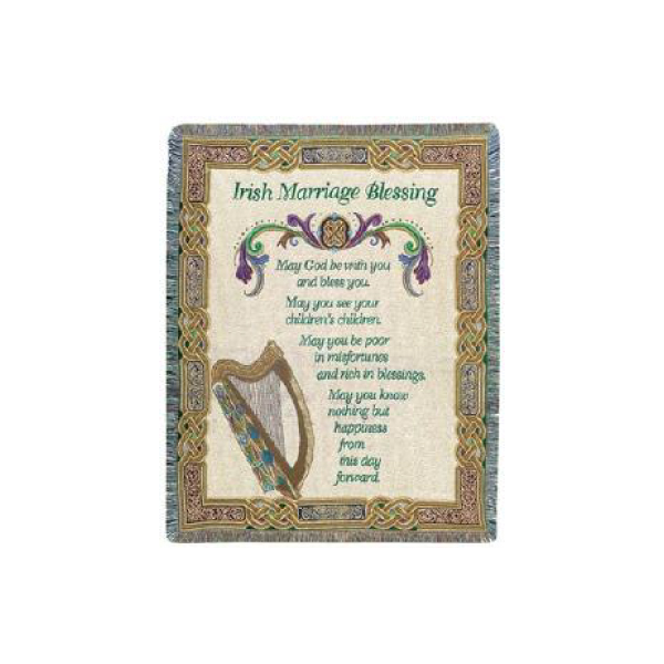 Irish Marriage Blessing Throw