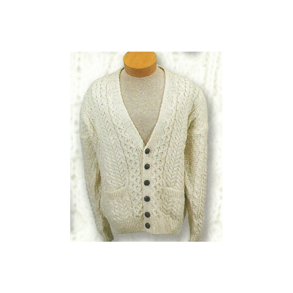 Irish Wool Cardigan Sweater