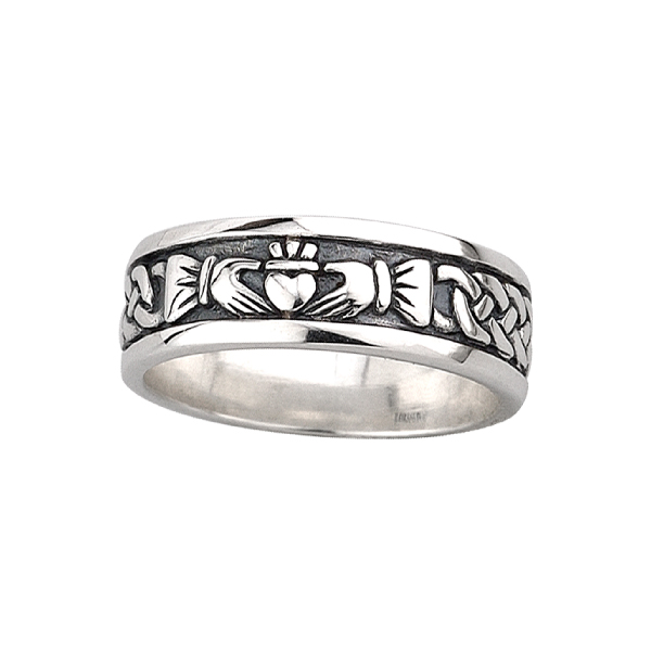 Sterling Silver Claddagh Rings for Men and Women