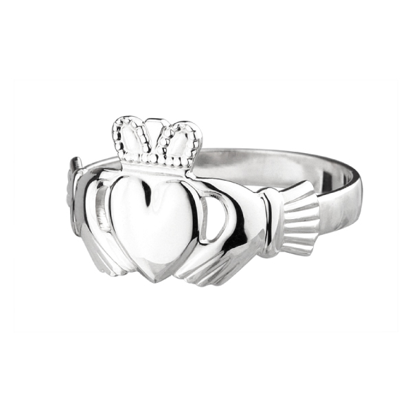Sterling Silver and Gold Claddagh Rings
