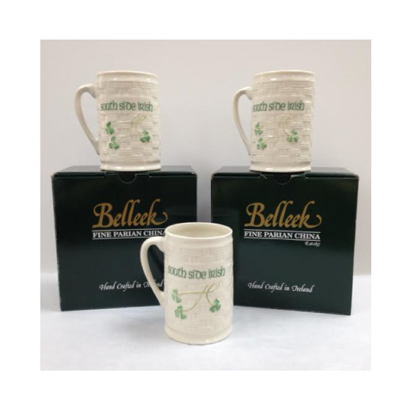 Belleek China South Side Irish Mug