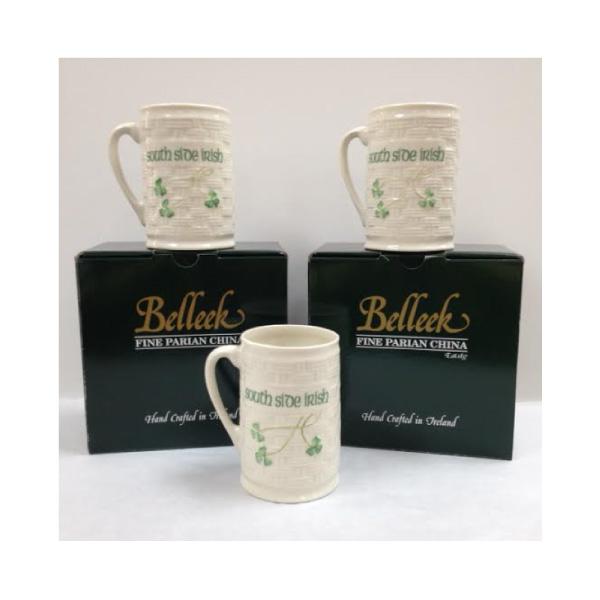 Belleek China South Side Irish Mug