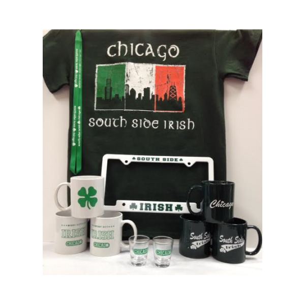 South Side Irish Shirts, Mugs, Shot Glasses, License Plate Frames, and Lanyards