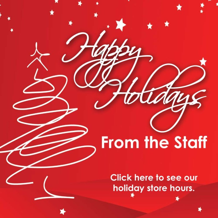 Happy Holidays from the Staff