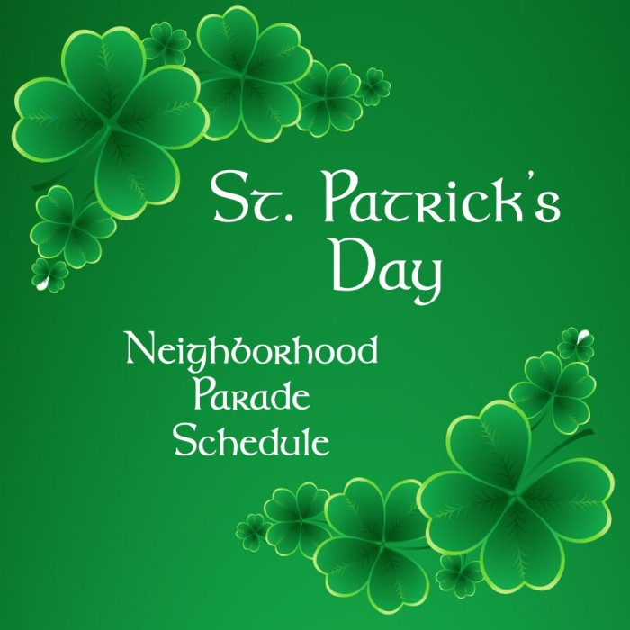 St. Patrick's Day Parade Schedule